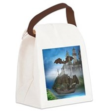 dc_round_coaster Canvas Lunch Bag
