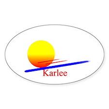 Karlee Oval Decal