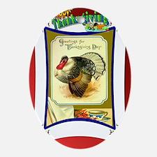 Thanksgiving Turkey Oval Ornament