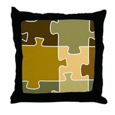 Jigsaw Puzzle Shower Curtain Throw Pillow