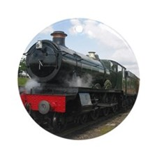 Railway  train Photography. Vintage Round Ornament