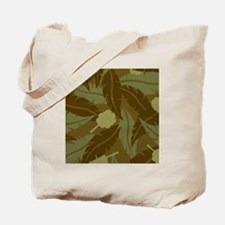 Jungle Leaves Shower Curtain Tote Bag
