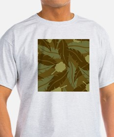 Jungle Leaves Shower Curtain T-Shirt