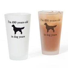70 birthday dog years golden retriever Drinking Gl