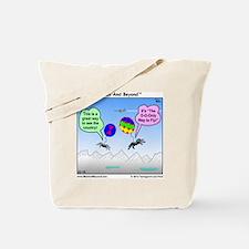 Ballooning Spiders Cartoon Tote Bag