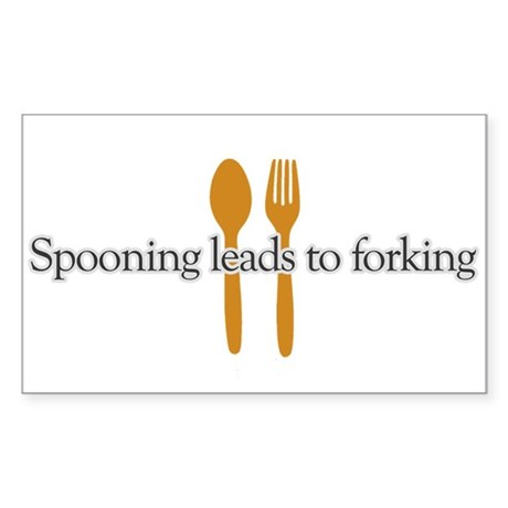 Spooing leads to forking Rectangle Sticker