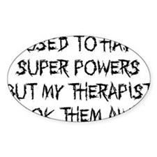 super powers funny Decal