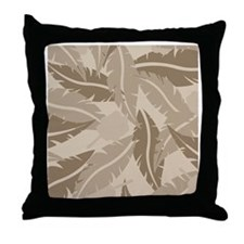 Jungle Leaves Shower Curtain Throw Pillow