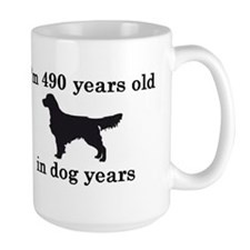 70 birthday dog years golden retriever 2 Mugs