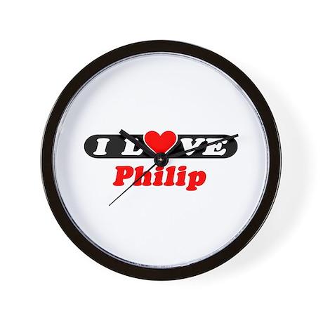 I Love Philip Wall Clock