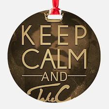Keep Calm and Take Care Ornament