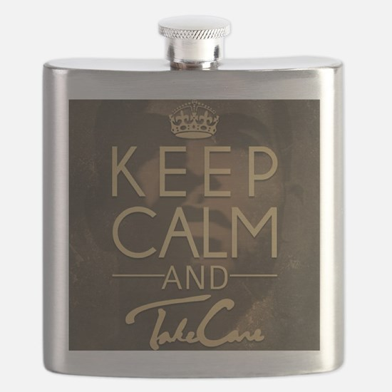 Keep Calm and Take Care Flask
