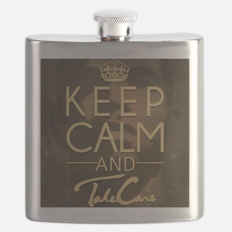 Keep Calm and Take Care Flask
