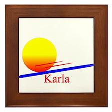 Karla Framed Tile