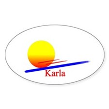 Karla Oval Decal