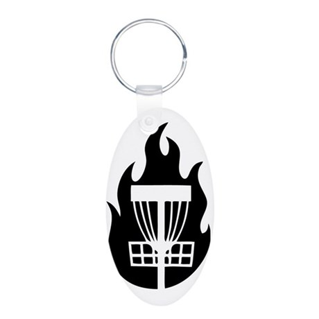 Fire Basket Aluminum Oval Keychain