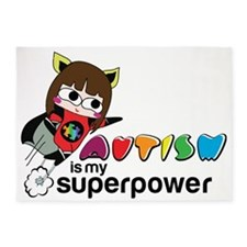 Autism is my superpower 5'x7'Area Rug