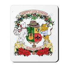Kaniac Holiday Crest Mousepad