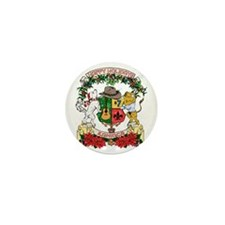 Kaniac Holiday Crest Mini Button