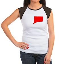 I love CT Connecticut-2 Women's Cap Sleeve T-Shirt