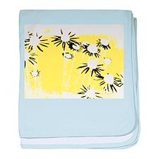 Cutout daisies baby blanket