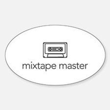 mixtape master Oval Decal