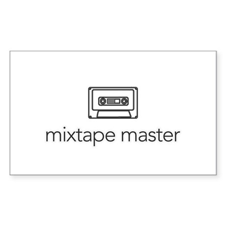 mixtape master Rectangle Decal by tblurts
