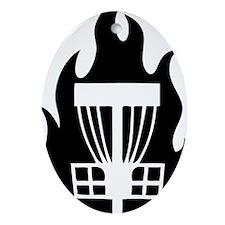 Fireball Basket black Oval Ornament
