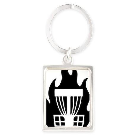 Fireball Basket black Portrait Keychain