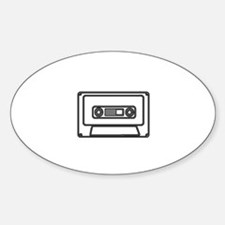 the mighty cassette tape Oval Decal