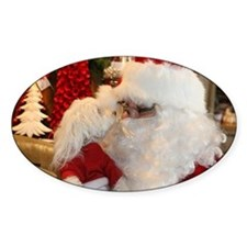 Kissing Santa Decal