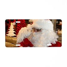 Kissing Santa Aluminum License Plate
