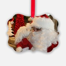 Kissing Santa Ornament