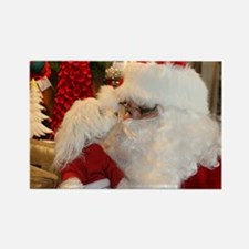 Kissing Santa Rectangle Magnet