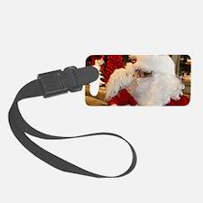 Kissing Santa Luggage Tag