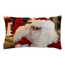 Kissing Santa Pillow Case