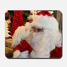 Kissing Santa Mousepad