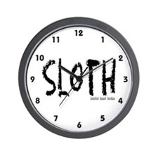 Sloth Logo Wall Clock