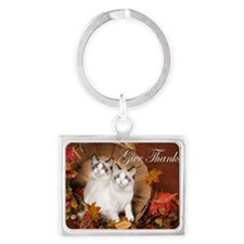 Give Thanks Landscape Keychain