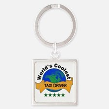 taxi driver Square Keychain
