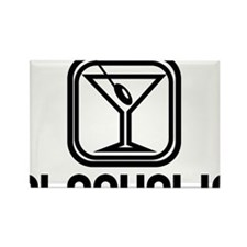 Alcoholic Rectangle Magnet