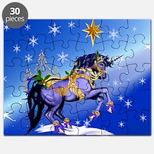 Yard Sign Bright Christmas Unicorn Puzzle