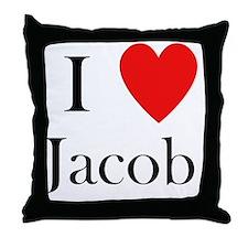 i love jacob Throw Pillow