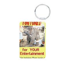 elephant circus abuse Keychains