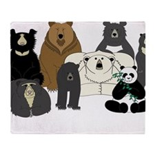 Bears world Throw Blanket