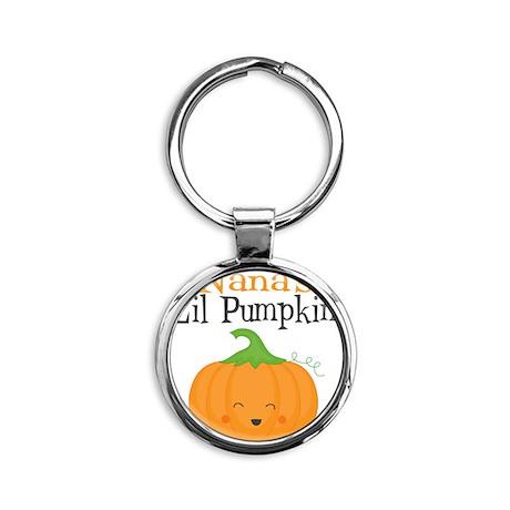Nanas Little Pumpkin Round Keychain
