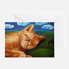 Sleeping Cat Bliss Greeting Card