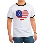Stars & Stripes Heart Ringer T
