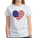 Stars & Stripes Heart Women's T-Shirt