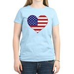 Stars & Stripes Heart Women's Light T-Shirt